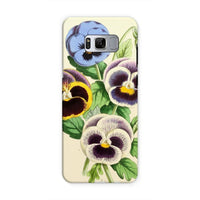 Floral Magazine 1869 Pansies Phone Case Samsung S8 / Tough Gloss & Tablet Cases