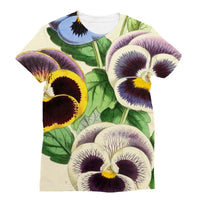 Floral Magazine 1869 Pansies Sublimation T-Shirt Xs Apparel