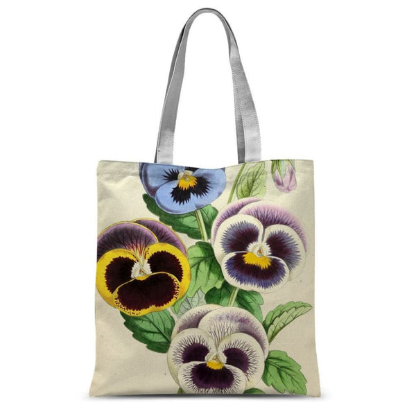 Floral Magazine 1869 Pansies Sublimation Tote Bag 15X16.5 Accessories
