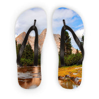 Flowing River With Sky Flip Flops S Accessories