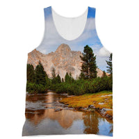 Flowing River With Sky Sublimation Vest Xs Apparel