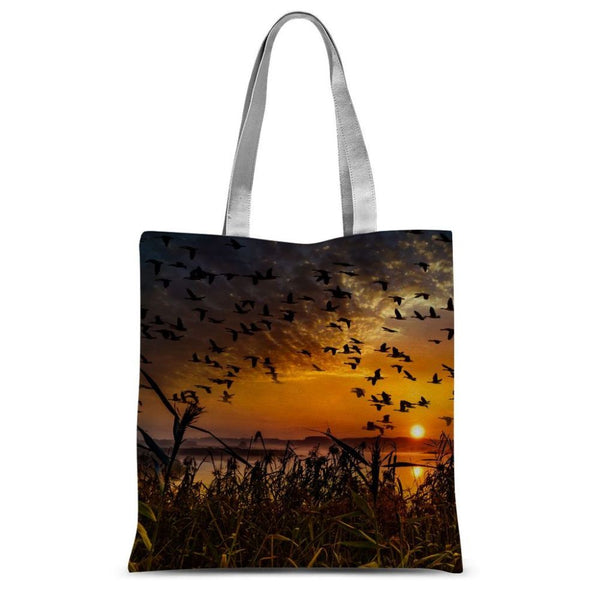 Flying Birds In The Sky Sublimation Tote Bag 15X16.5 Accessories