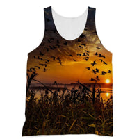 Flying Birds In The Sky Sublimation Vest Xs Apparel