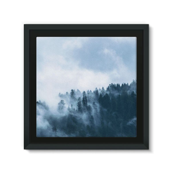 Fog In The Sky Framed Canvas 12X12 Wall Decor