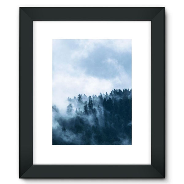 Fog In The Sky Framed Fine Art Print 12X16 / Black Wall Decor