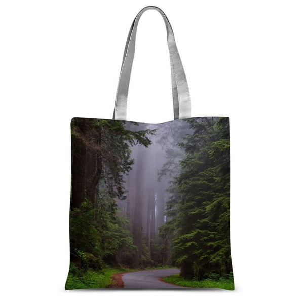 Foggy Redwood National Park Sublimation Tote Bag 15X16.5 Accessories