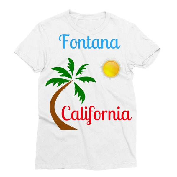 Fontana California Palm Sun Sublimation T-Shirt S Apparel