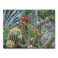 Fowering Cactus In A Garden Stretched Canvas 24X18 Wall Decor