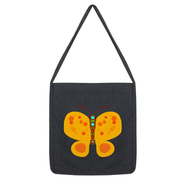 Freckels Butterfly Tote Bag Melange Black Accessories