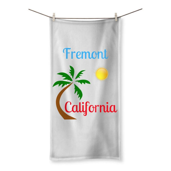 Fremont California Palm Sun Beach Towel 19.7X39.4 Homeware