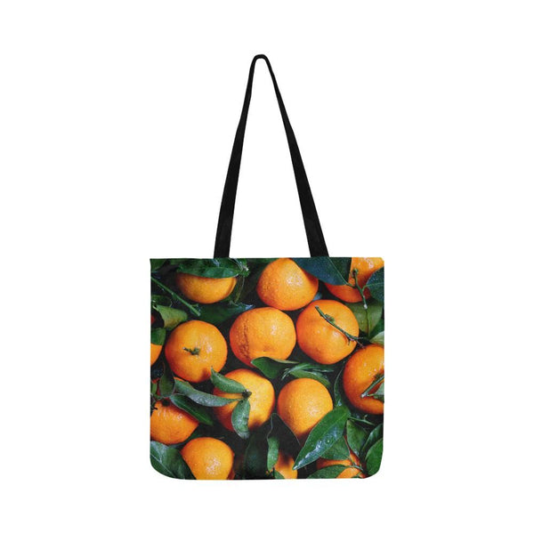 Fresh Oranges Reusable Tote Shopping Bag (Two Sides) (1660)