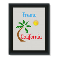 Fresno California Palm Sun Framed Canvas 12X16 Wall Decor