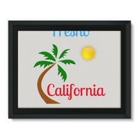 Fresno California Palm Sun Framed Canvas 16X12 Wall Decor