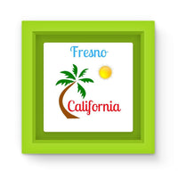 Fresno California Palm Sun Magnet Frame Green Homeware