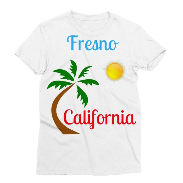 Fresno California Palm Sun Sublimation T-Shirt Xs Apparel