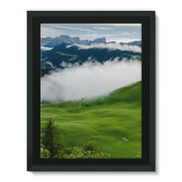 Full Green Mountain Framed Canvas 12X16 Wall Decor