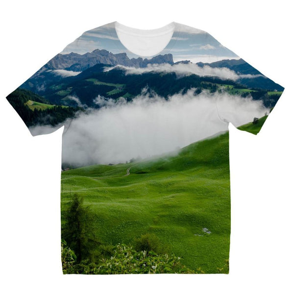 Full Green Mountain Kids Sublimation T-Shirt 3-4 Years Apparel