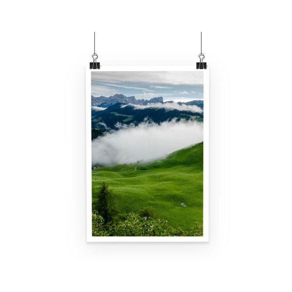 Full Green Mountain Poster A3 Wall Decor