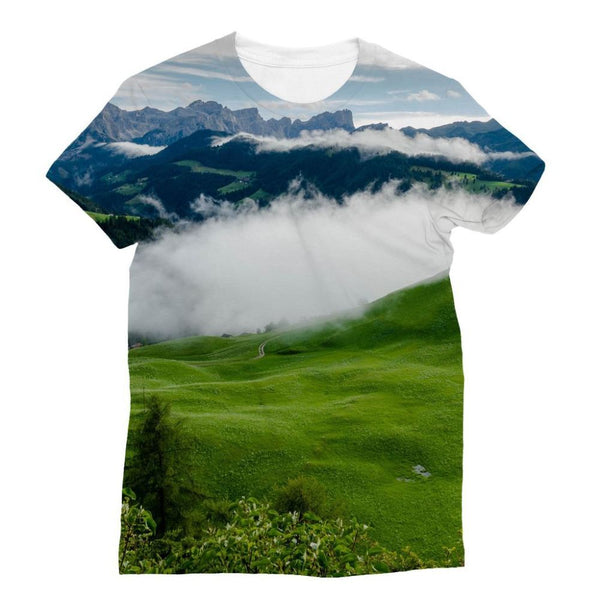 Full Green Mountain Sublimation T-Shirt S Apparel