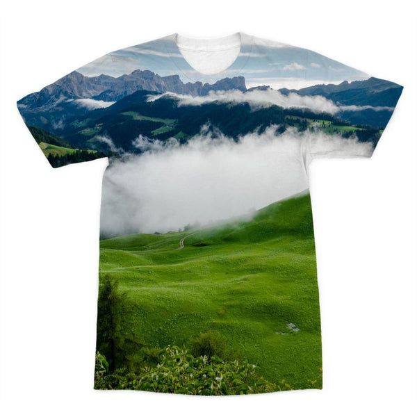 Full Green Mountain Sublimation T-Shirt Xs Apparel