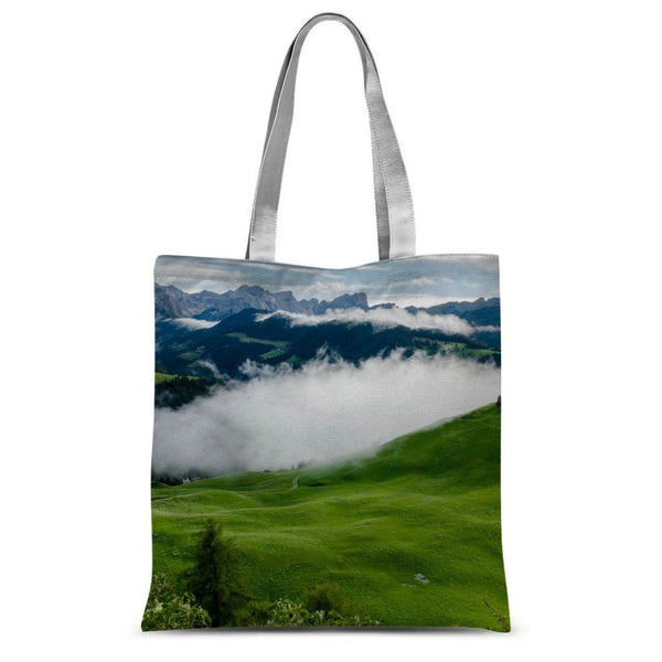 Full Green Mountain Sublimation Tote Bag 15X16.5 Accessories