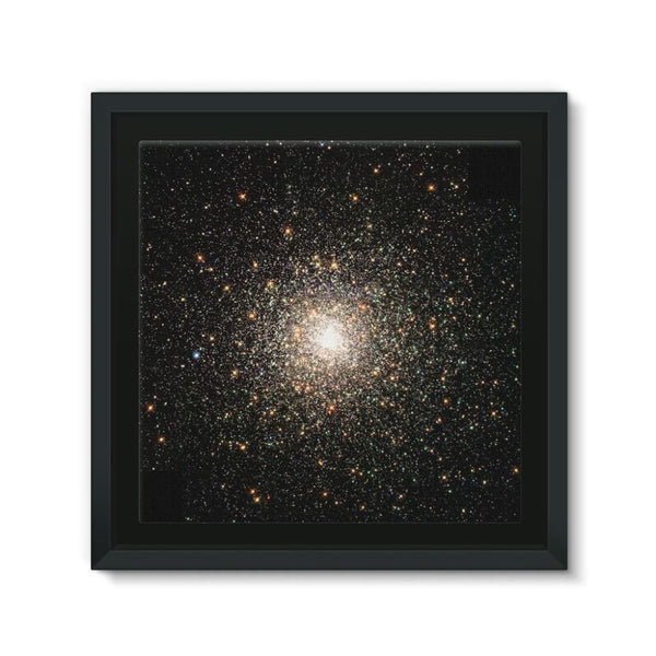 Galaxy Surrounded With Stars Framed Canvas 12X12 Wall Decor
