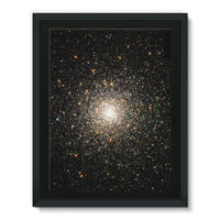 Galaxy Surrounded With Stars Framed Canvas 12X16 Wall Decor
