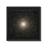Galaxy Surrounded With Stars Framed Canvas 14X14 Wall Decor