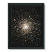 Galaxy Surrounded With Stars Framed Canvas 18X24 Wall Decor