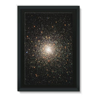 Galaxy Surrounded With Stars Framed Canvas 24X36 Wall Decor