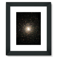 Galaxy Surrounded With Stars Framed Fine Art Print 12X16 / Black Wall Decor