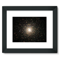 Galaxy Surrounded With Stars Framed Fine Art Print 16X12 / Black Wall Decor