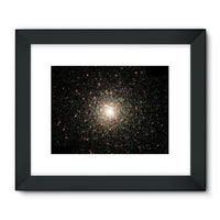 Galaxy Surrounded With Stars Framed Fine Art Print 24X18 / Black Wall Decor