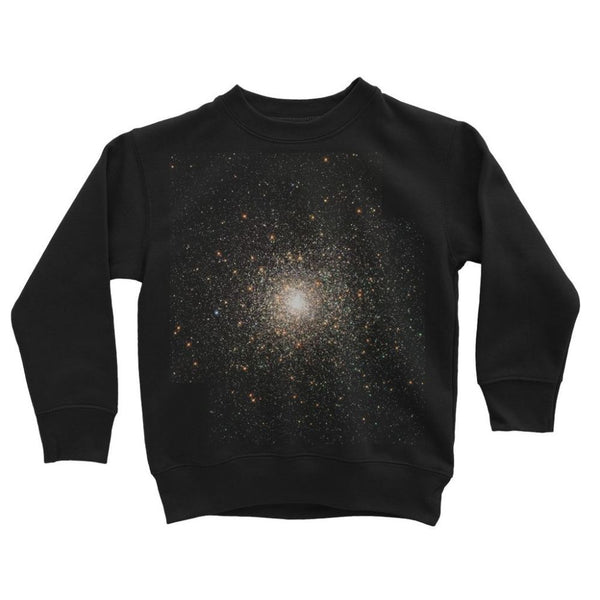 Galaxy Surrounded With Stars Kids Sweatshirt 3-4 Years / Jet Black Apparel