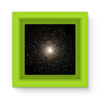 Galaxy Surrounded With Stars Magnet Frame Green Homeware