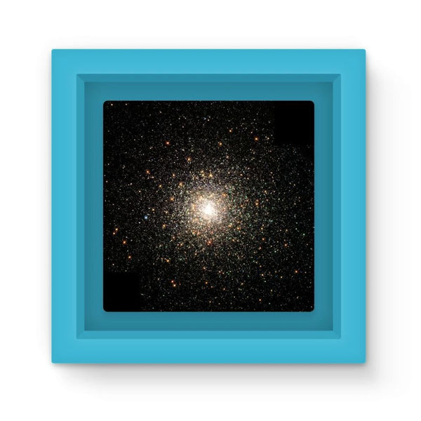 Galaxy Surrounded With Stars Magnet Frame Light Blue Homeware