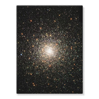 Galaxy Surrounded With Stars Stretched Canvas 24X32 Wall Decor