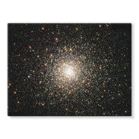 Galaxy Surrounded With Stars Stretched Canvas 32X24 Wall Decor
