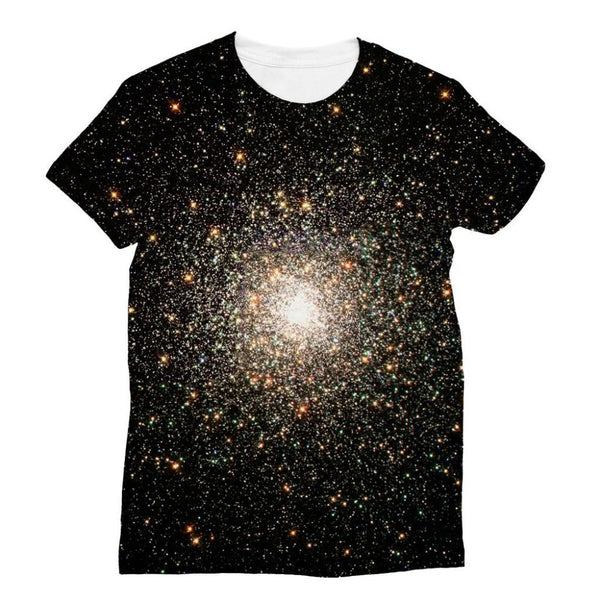 Galaxy Surrounded With Stars Sublimation T-Shirt Xs Apparel