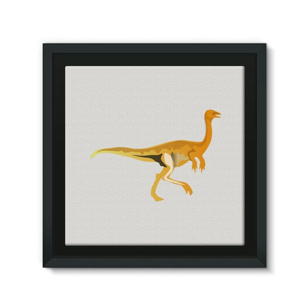 Gallimimus Dinosaur Framed Canvas 12X12 Wall Decor