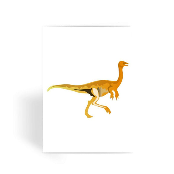 Gallimimus Dinosaur Greeting Card 1 Prints