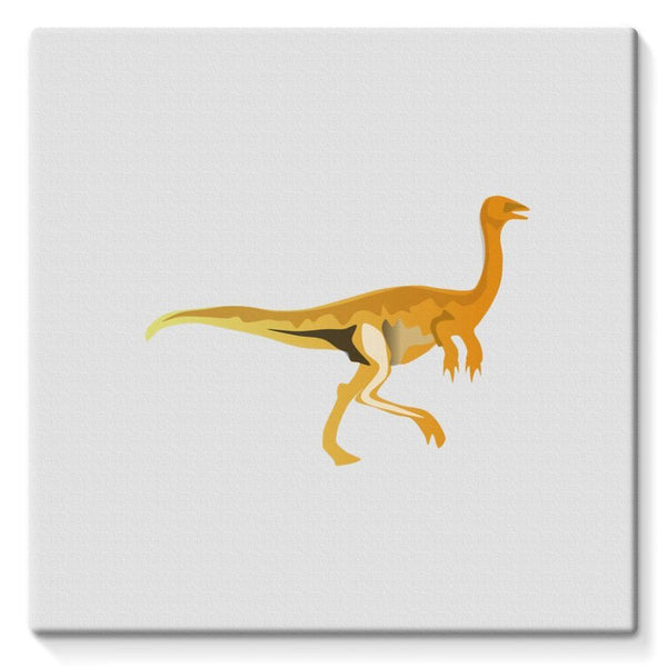 Gallimimus Dinosaur Stretched Canvas 10X10 Wall Decor