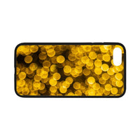 Golden Xmas Lights Iphone 7 4.7 Case Rubber