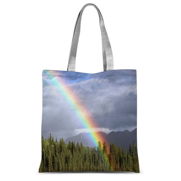 Gorgeous Rainbow At Cloudy Sublimation Tote Bag 15X16.5 Accessories