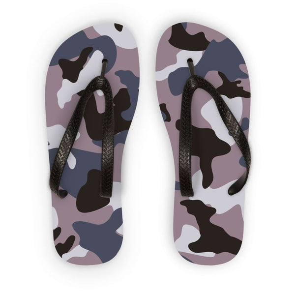 Gray Army Camo Pattern Flip Flops S Accessories