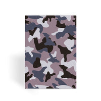 Gray Army Camo Pattern Greeting Card 1 Prints