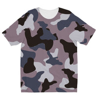 Gray Army Camo Pattern Kids Sublimation T-Shirt 3-4 Years Apparel