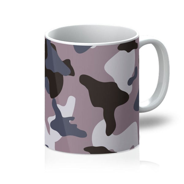 Gray Army Camo Pattern Mug 11Oz Homeware