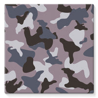 Gray Army Camo Pattern Stretched Canvas 14X14 Wall Decor