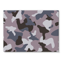 Gray Army Camo Pattern Stretched Canvas 16X12 Wall Decor